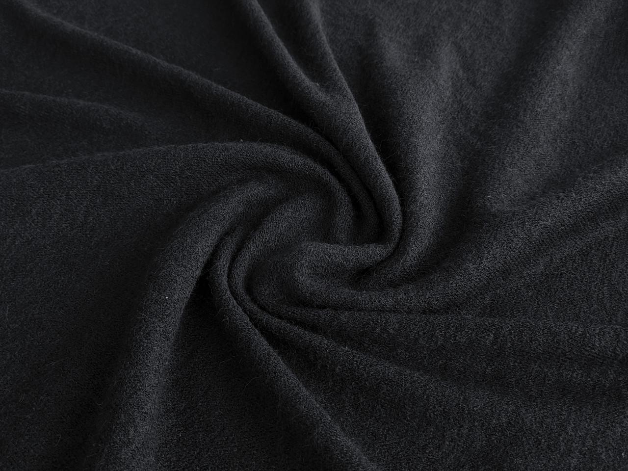 Трикотаж ангора Арктика, черный