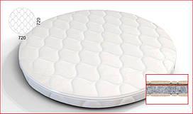 Матрас на люльку SMART BED ROUND (размер 72*72см), наполнитель: кокос+флексовойлок