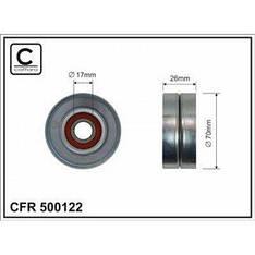 Ролик натяжного механизма поликлинового ремня Iveco Eurotech (70x17x26) (500122/504106749)