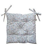 Подушка на стілець табурет бавовна Ретро квіти