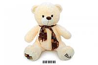 Ведмедик з шарфом молочний 1202/70  70 см