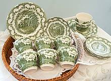 Комплект английской керамики, английский чайный сервиз на шесть персон, Ironstone Tableware LTD, Англия