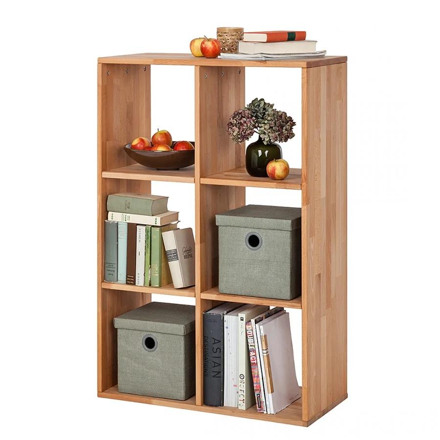 """Стеллаж для книг из дерева """"Куб"""" от производителя 2х3"""