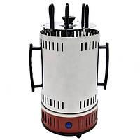 Электрошашлычница Domotec BBQ MS-7783, красная, фото 1