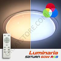 Потолочный светодиодный светильник LUMINARIA SATURN 60W RGB R-555-SHINY-220V-IP20 с пультом ДУ