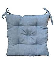 Подушка на стілець табурет Ретро синя