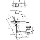 Змішувач 10 * д/раковини з відкриванням стоку, 140 мм (TD 011.00) , фото 2