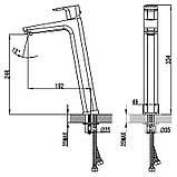 Змішувач 10 * д/раковини без відкривання стоку, 333 мм (TD 015.00) , фото 2