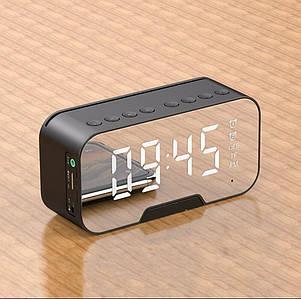 MUSIC  Q5 часы - колонка, радио, термометр, будильник, плеер, зеркало, подставка для смартфона. hands free AUX