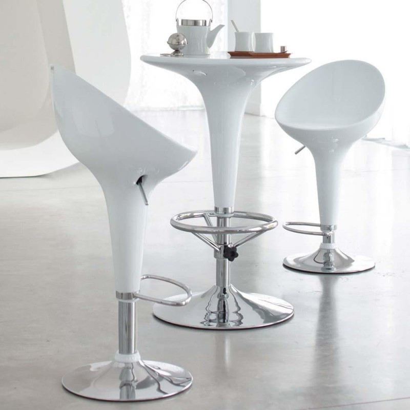 Барный стул Джолли белый, стул для визажиста от SDM Group, пластик