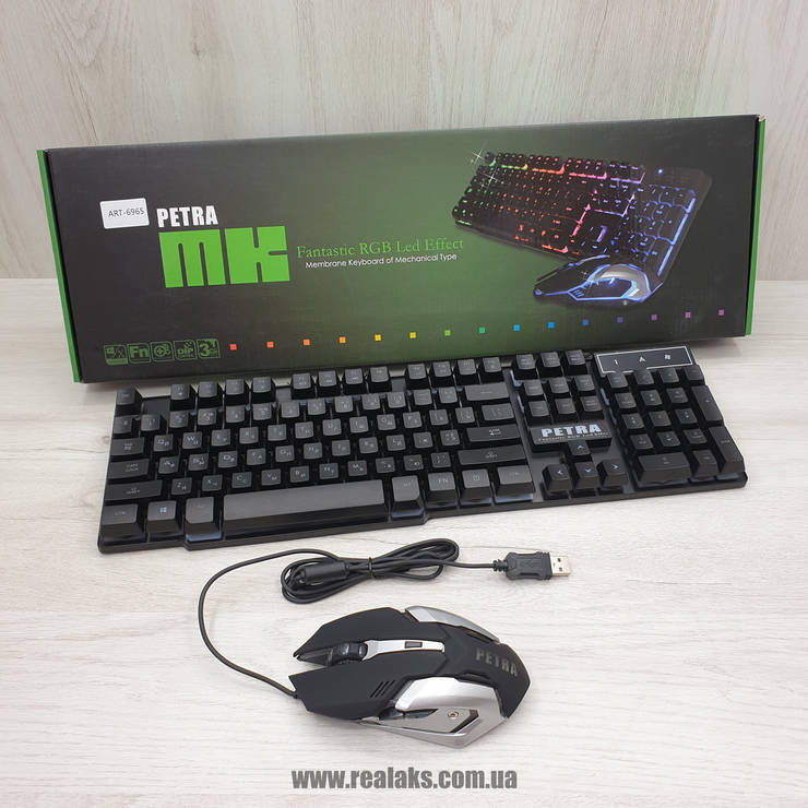 Клавиатура PETRA MK1 + Мышка (Black), фото 2