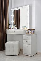 Стол  гримерный с навесным зеркалом и подсветкой СВ-12