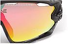 Очки OAKLEY JAWBREAKER с панорамной моно-линзой, диоптрической вставкой, поляризацией и (3 ЛИНЗЫ), фото 4