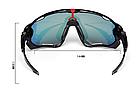 Очки OAKLEY JAWBREAKER с панорамной моно-линзой, диоптрической вставкой, поляризацией и (3 ЛИНЗЫ), фото 3