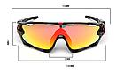 Очки OAKLEY JAWBREAKER с панорамной моно-линзой, диоптрической вставкой, поляризацией и (3 ЛИНЗЫ), фото 2