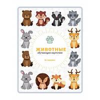 """Обучающие цветные карточки """"Животные"""" на китайском языке для детей"""
