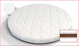 Кокосовый матрас в люльку SMART BED ROUND– 72х72 см/60х71 см