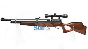 Пневматическая винтовка PCP Beeman Commander 1317 4.5мм 28 Дж коричневый с прицелом 4х32