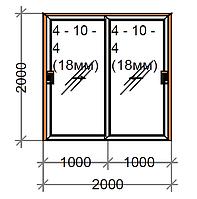 Розсувні двері двостулкові SWS, рама 60, фото 1