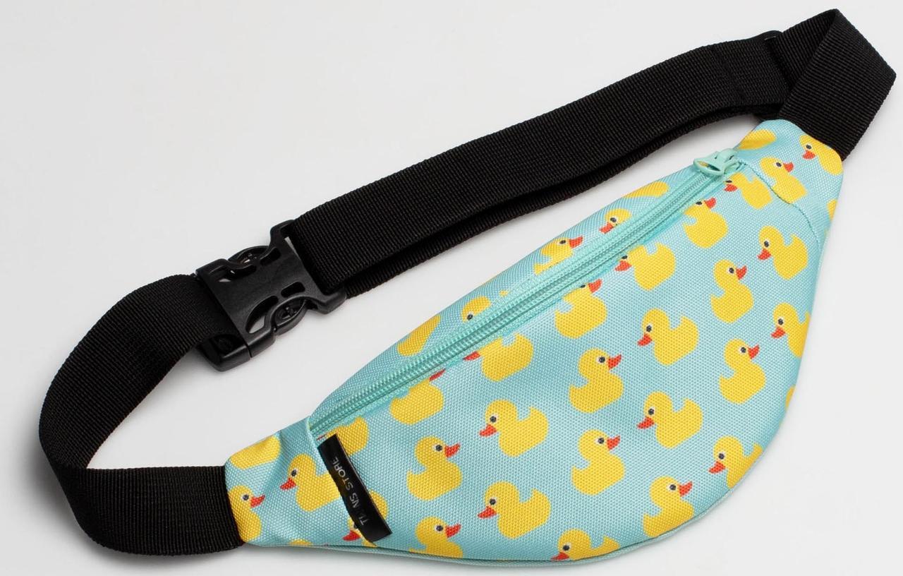 Поясна сумка TwinsStore БД173 для дітей, тканинна з качками