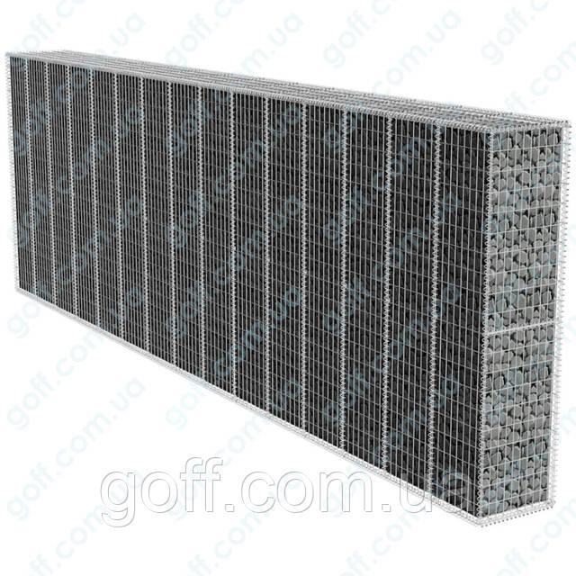 Забор из габионов - сварная сетка для габионов