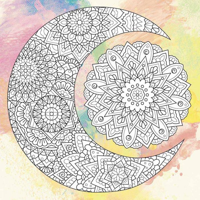 Антистресс раскраска на холсте с красками 25х25 Созвездия палитра бирюза (DZ563)