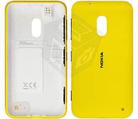 Задняя панель корпуса для Nokia Lumia 620, c боковыми кнопками, желтый, оригинал