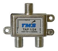Ответвитель абонентский TAP 1/24 TMS (один выход -24дБ, проходной выход)
