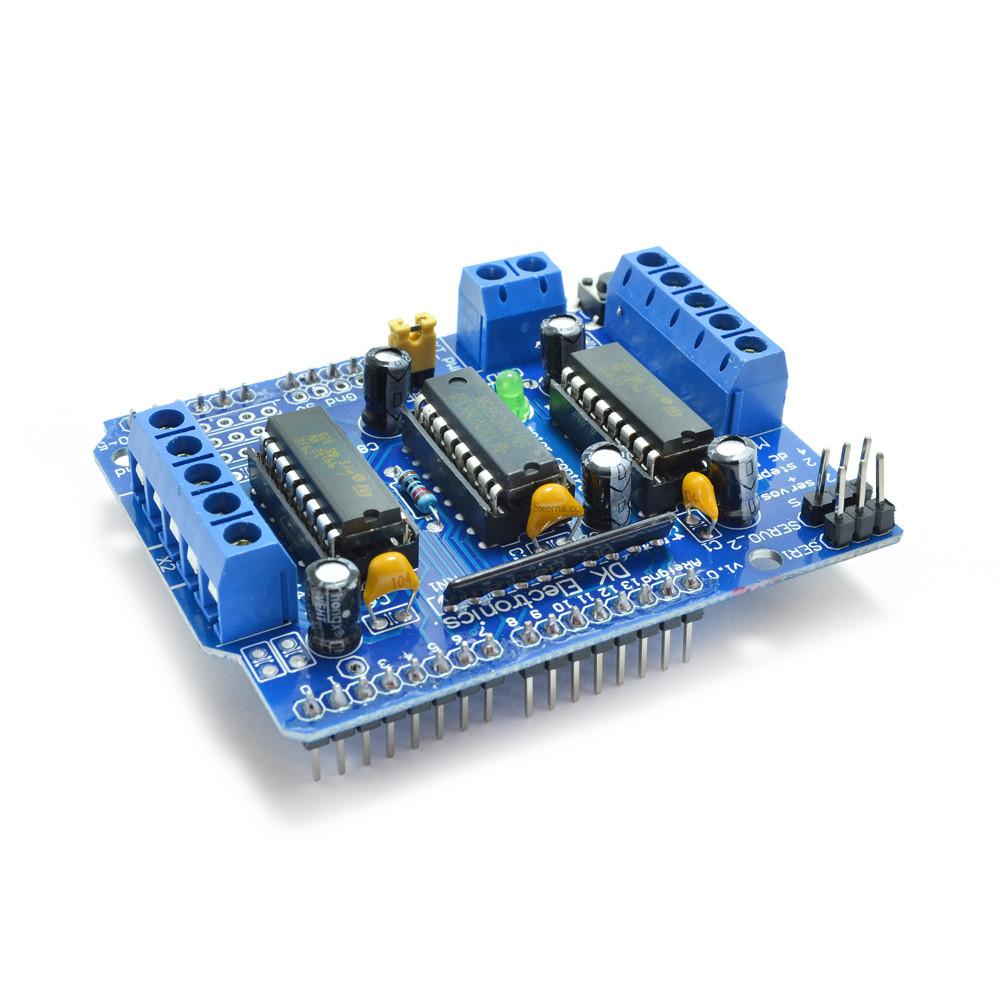 Arduino motor control shield L293D с драйверами для управления двигателями