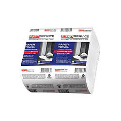 PRO service Comfort полотенца бумажные в листах Z-сложение, 2х-слойные, 200 шт., белые