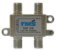 Ответвитель абонентский TAP 2/ 8 TMS (два выход -8дБ, проходной выход)
