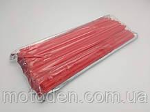 Накладки на спицы для мотоцикла / велосипеда 72шт (для переднего и заднего колеса) 24см Красный