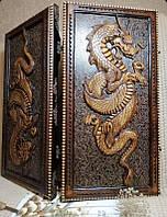 Нарды деревянные ручной работы, эксклюзивный подарок, фото 1
