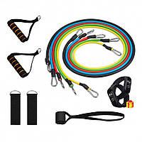 Эспандер для фитнеса / Резинки для тренировок / (Копия) - Комплект из 5 штук + Подарок