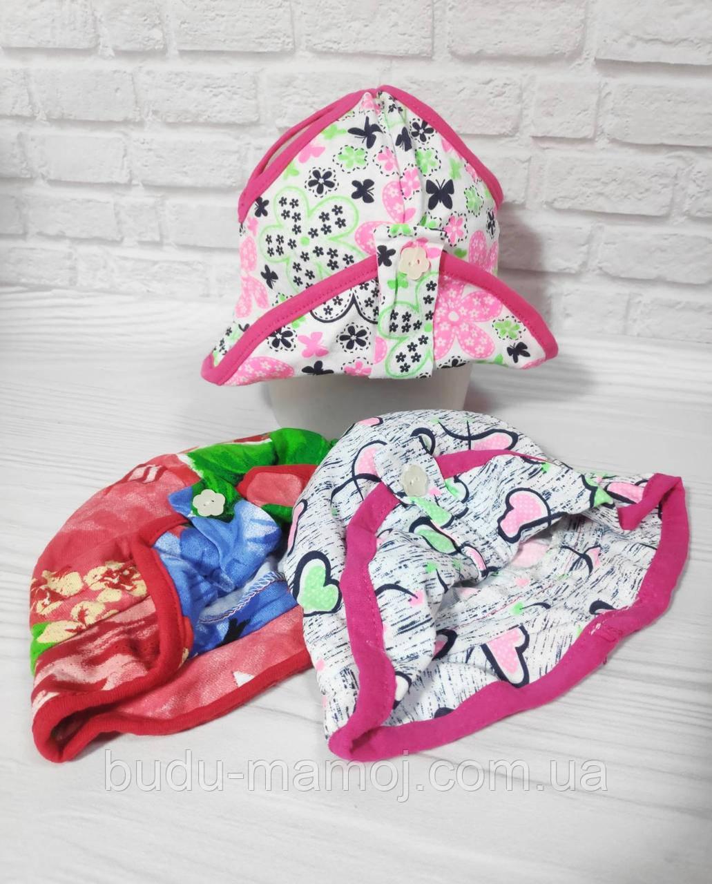 Панамка для дівчинки трикотаж 80 розмір 9-18 місяців