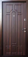 Двери входные металлические Qdoors Лайт М Оптима орех темный