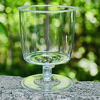 Пластиковые бокалы для шампанского 6 шт/уп 190 мл прозрачные, Украина