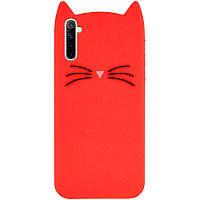 Силиконовая накладка 3D Cat для Realme 6 Красный