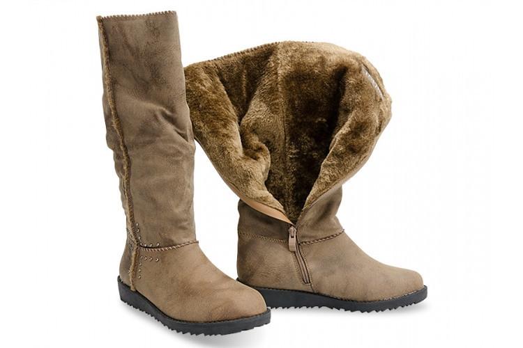 Зимние сапоги женские бежевого цвета 37 - Booms.com.ua - большой выбор товаров по доступным ценам! в Киеве