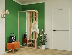 Прихожая City One Door 1100х450х2100 ДСП/Зеркало Сонома