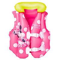 """Детский надувной жилет для девочки """"Минни Маус"""" Bestway, 91070"""