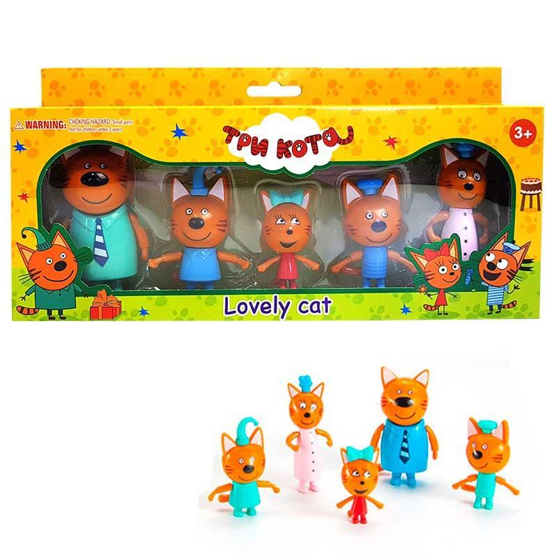 """Игровой набор фигурок """"Семья котов"""" M-8811, 5 фигурок"""
