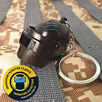 Брелок Шлем с забралом черный / Шлем 3 уровня / Helmet LVL 3 Black из игры PUBG 13 см металлический