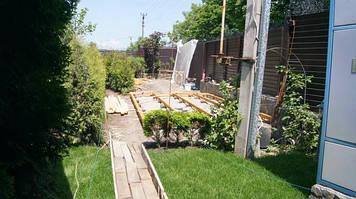 Строительство дома из профилированного бруса 6.4х3.1 м.