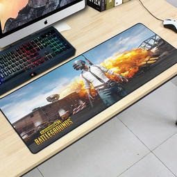 БОЛЬШОЙ геймерский коврик для мышки и клавиатуры PUBG R-700 (70х30см)