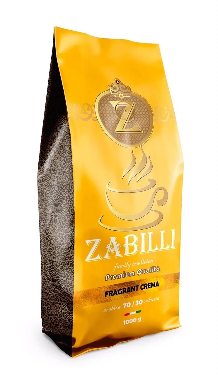 Італійська кава в зернах Zabilli Fragrant Crema 1 кг