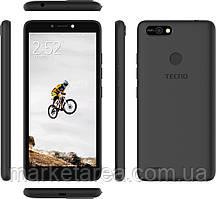 Смартфон черный с большим дисплеем на 2 сим карты Tecno POP2F (B1f) 1/16Gb Midnight Black UA UCRF