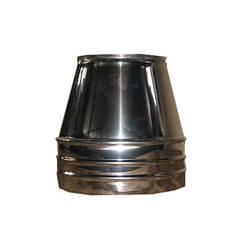 Конус двустенный из нержавеющей стали (0,6 мм.) в оцинкованном кожухе