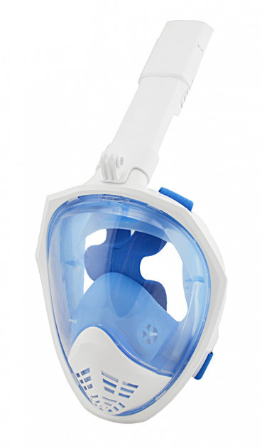 Полнолицевая панорамная маска для плавания SmartTech (L/XL и S/M) с креплением для камеры