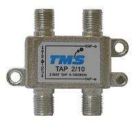 Ответвитель абонентский TAP 2/10 TMS (два выход -10дБ, проходной выход)